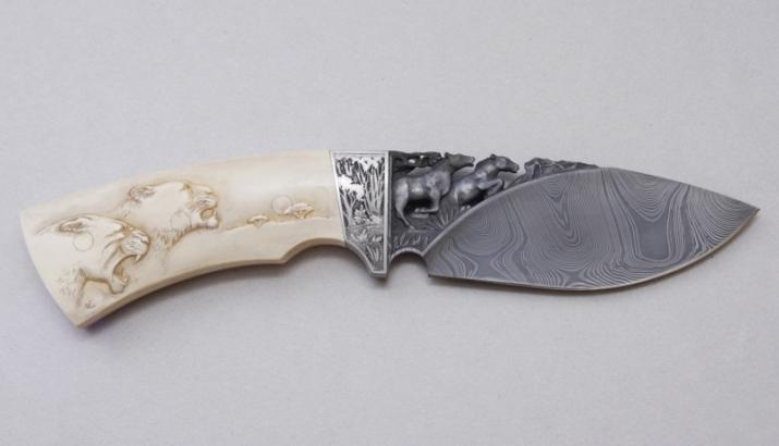Рукоятка на нож из кожи - Персональный сайт - Рукоятка для ножа